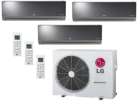 LMU24CHVPACKAGE6 Triple Zone Mini Split Air Conditioner System with 27000 BTU Cooling Capacity  3 Indoor Units  and Outdoor 704075
