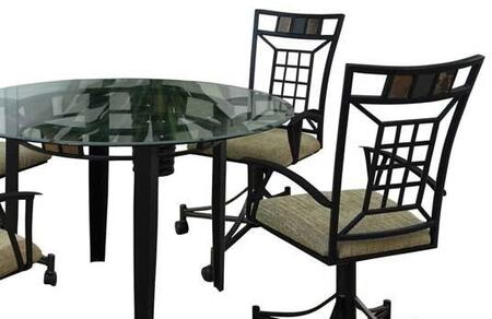 08290 Douglas Caster Chairs with Lattice Back (Set of