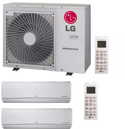 LMU30CHVLMN158HVTX2 Dual Zone Mini Split Air Conditioner System with 30000 BTU Cooling Capacity  2 Indoor Units  and Outdoor 700676