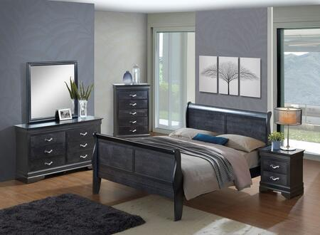 G6550A-KBBDMNC 5-Piece Bedroom Set with King Size Bed + Dresser + Mirror + Nightstand + Chest Drawer  in