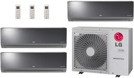 LMU36CHVPACKAGE8 Triple Zone Mini Split Air Conditioner System with 27000 BTU Cooling Capacity  3 Indoor Units  and Outdoor 704281