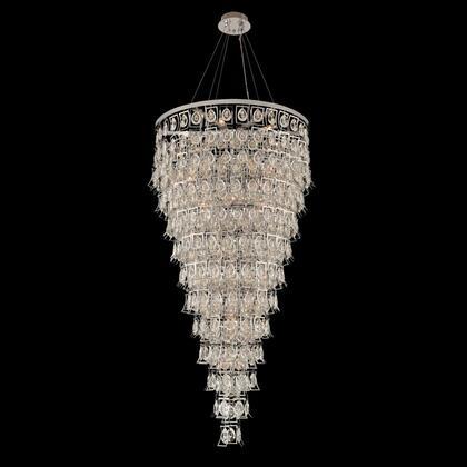 031954-039-FR001 Carmella 36 Inch Foyer Light Pendant Style  120V in Brushed Brass