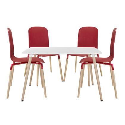Stack Collection EEI-1375-RED 5 PC Bar Table Set with 1