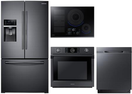 4 Piece Kitchen Appliance Package with RF28HDEDBSG 36