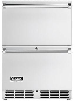 """VRDO1240DSS 24"""" Outdoor Undercounter Drawer Refrigerator with 5.3 cu. ft. Capacity  Electronic Controls  Digital Temperature Readout and 700 BTU Compressor  in"""