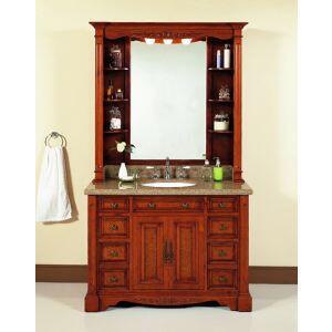 WF6494/DC 48 inch  Single Bathroom Vanity Set with Hutch in Burled