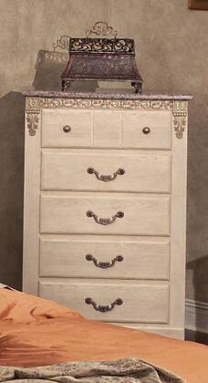 4305 San Miguel 33 inch  Wide 5 Drawer Chest of Drawers in Washed Ash