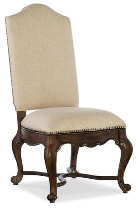 Adagio Series 5091-75510 49 inch  Traditional-Style Dining Room Upholstered Side Chair with Cabriole Legs  Nail Head Accents and Fabric Upholstery in