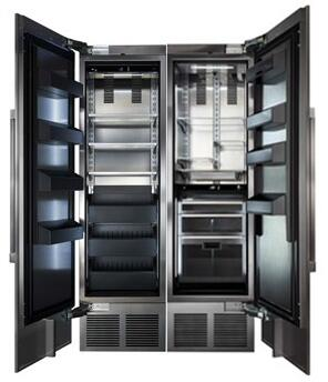 48 inch  Stainless Steel Side-by-Side Refrigerator with CR24F12L 24 inch  Left Side Freezer  CR24R12R 24 inch  Right Side Refrigerator  6 inch  Toe Kick  and