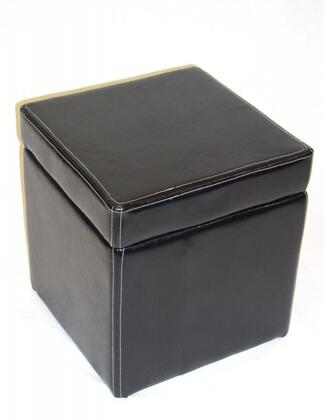 554664 Faux Leather Box Ottoman with Lift