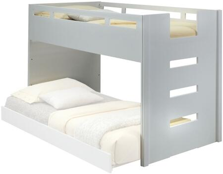 Deltana Collection 37470 Twin Size Loft Bed with Built-In Ladder  Full Length Guard Rail  Slat System Included and Solid Wood Construction in White