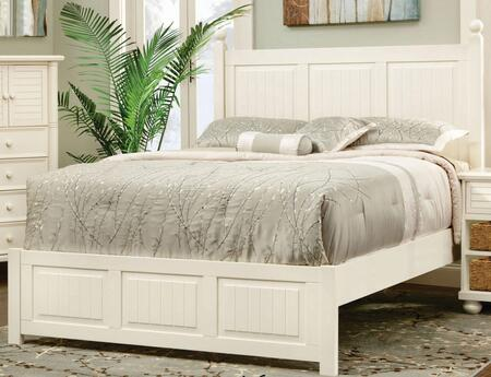 Ice Cream At The Beach Collection CF-1701-0111-QB Queen Size Panel Bed with Vertical Planked Panels Clean Line Design and Solid Wood Veneers Over Durable MDF