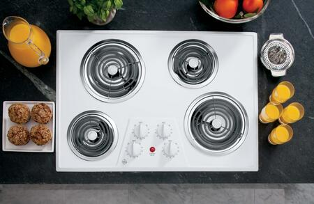 "GE 30"" Built-in Electric Cooktop White JP328WKWW"