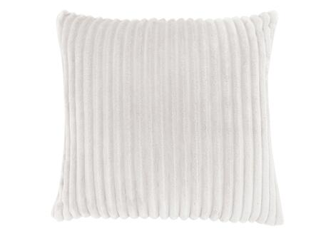 I 9350 18 inch  x 18 inch  Pillow with Textured Rib Cover in Ivory - 1