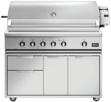 Freestanding Grill with BH1-48R-L 48