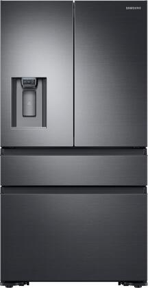 Samsung RF23M8070SG 36 Inch Freestanding Counter Depth 4 Door French Door Refrigerator with 22.7 cu. ft. Total Capacity