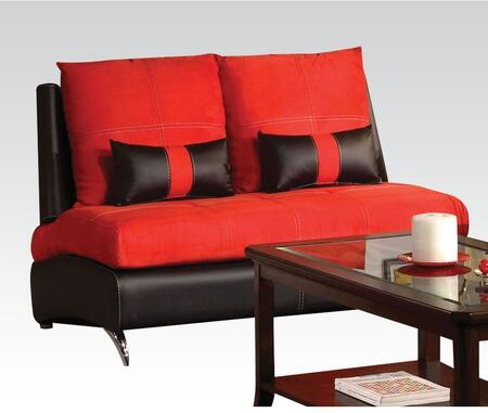Jolie Collection 51746 54 inch  Loveseat with 2 Pillows Included  Pine Wood Construction  Loose Back Cushions  Tight Seat Cushions  Suede and PU Leather Upholstery