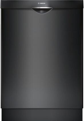 "Bosch Ascenta 24"" Tall Tub Built-In Dishwasher with Stainless-Steel Tub Black SHS5AV56UC"