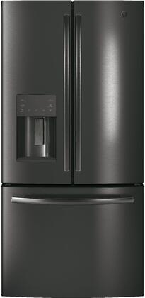 GE GFE24JBLTS 23.8 Cu. Ft. Stainless Steel French-Door Bottom Freezer Refrigerator