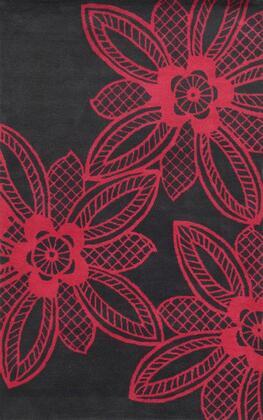 Bbdbd8858fu000203 Bradberry Downs Bd8858-2 X 3 Hand-tufted 100% Premium Blended Wool Rug In Dark Gray  Rectangle