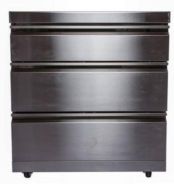MS-Draw Modular 3-Drawer Storage Module for Outdoor Kitchen  in Stainless