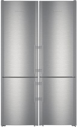 48 inch  Side-by-Side Refrigerator with 24 inch  CS1210L and 24 inch  CS1210 Bottom Freezer Refrigerators  990036800 Top Vent and 990155500 Side-by-Side Installation