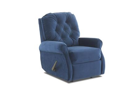 Virgo Collection 46703H-RRC-TI 35 inch  Rocking Reclining Chair with Rolled Arms  Welted Trim Detail and Button Tufted Back Cushion in Tina