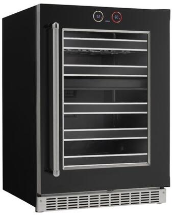 SRVWC050R 24 inch  Silouhette Series Dual Temperature Zone Wine Cooler with NEK Storage System  37 Wine Bottle Capacity  5 Maple Slide Out Shelves  and Parametric