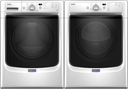 White Front Load Laundry Pair with MHW3505FW 27