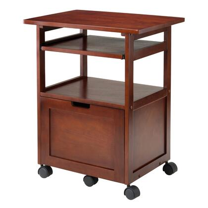 Piper Collection 94427 24 inch  Work Cart / Printer Stand with Key Board  Caster Wheels and Pull-Out Tray in
