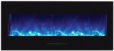 Amantii WM-FM-50-BG-NOLOG Wall Mount/Flush Mount Series Electric Fireplace with Clear Media