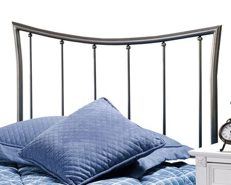 Edgewood Collection 1333HTWR Twin Size Headboard with Rails  Open-Frame Panel Design and Sturdy Metal Construction in Magnesium