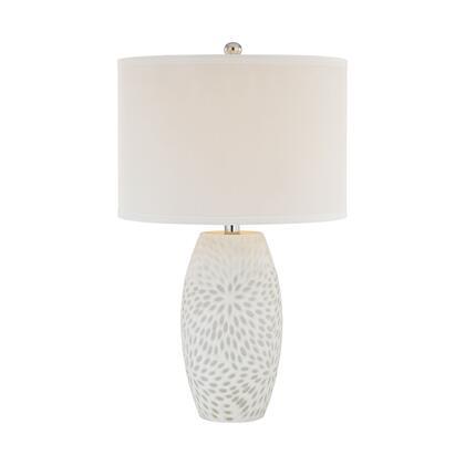 D2910 Farrah 1 Light Table Lamp in White