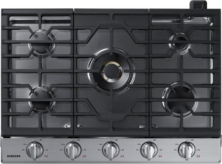 "NA30K7750TS 30"" Gas Cooktop with 5 Sealed Burners  Illuminated Knobs  Griddle  Wok Ring and Wifi  in Stainless"