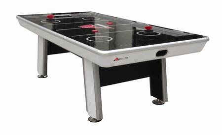 G04864W Avenger 8' Air Hockey Table with Touch Screen Controls  a LED Scoring Two Premium Ergonomic Strikers and Two Red 3.25