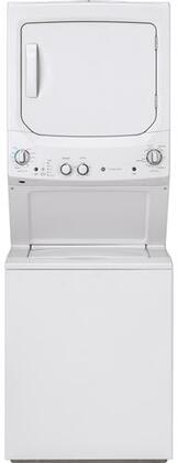 "GUD27ESSMWW 27"" Electric Washer and Dryer with Multi wash Cycles  Rinse Temperature  Auto Loading Sensing  Rotary Electronic Controls  and Spin Speed"