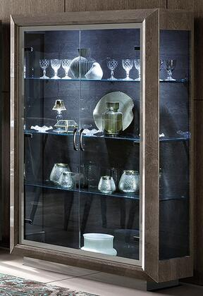 """ELITE2DRCABINET_49""""_Cabinet_with_3_Glass_Shelves__2_Glass_Doors_and_Metal_Base_in"""