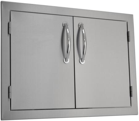 SODX2AD26 Built-in Deluxe Double Door with .375 inch  Self-Rimming Trim Bezel  Raised Reveal Design  Easy to Gasp Handles and Premium Stainless Steel