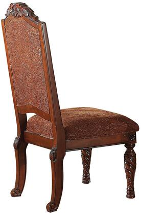 Quimby Collection 60277 Set of 2 18 inch  Side Chairs with Carved Turned Legs  Fabric Cushions and Traditional Style in Cherry