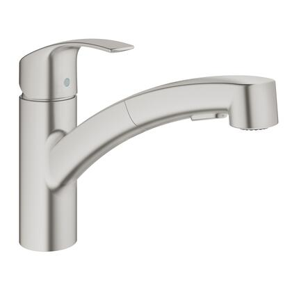 Grohe 30306DC0 Eurosmart Single-Handle Pull-Out Sprayer Kitchen Faucet, SuperSteel