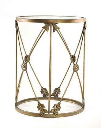 BTGARW-L Large Barrel Table w/ Arrows and Removeable Glass
