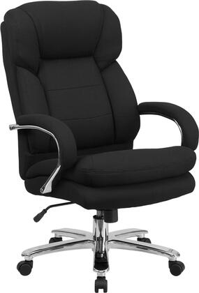GO-2078-GG HERCULES Series 24/7 Intensive Use  Multi-Shift  Big & Tall 500 lb. Capacity Black Fabric Executive Swivel Chair with Loop