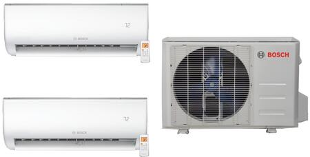 BOS3PCWKIT2 Dual Zone Mini Split Air Conditioner System with 36000 BTU Cooling Capacity  2 Indoor Units  and Outdoor 844034