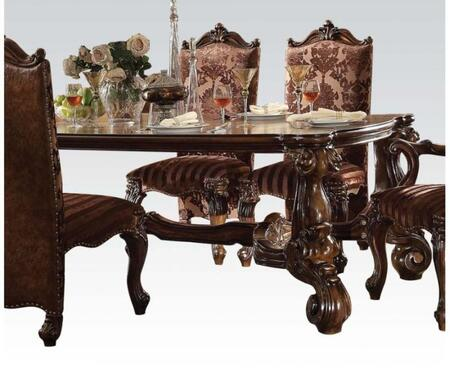Versailles Collection 61115 96 inch  Dining Table with Oversized Legs  Rectangular Top  Ornamental Detail  Aspen and Poplar Wood Construction in Cherry Oak