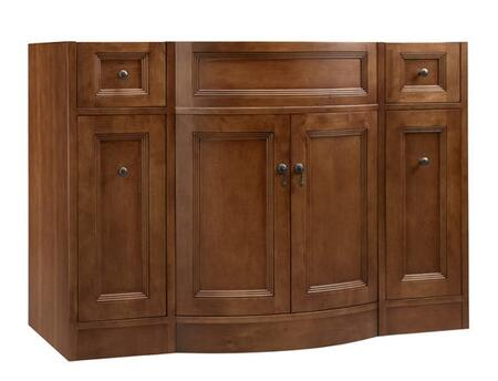 060648-F11 Marcello 48 inch  Wood Vanity Cabinet with Double Wood Doors and Four Drawers: Colonial