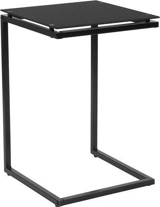 HG-112337-GG Burbank Black Glass With Black Metal Frame End