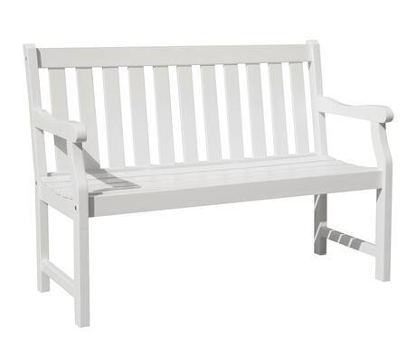 V1628 Bradley Eco-Friendly 4-Foot Outdoor Wood Garden Bench