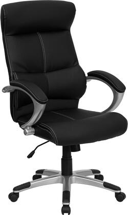 H-9637L-1C-HIGH-GG High Back Black Leather Executive Office