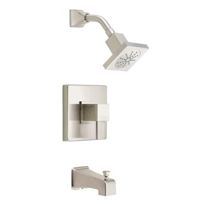 D500033BNT Reef 1-Handle Pressure Balance Tub and Shower Faucet Trim Kit in Brushed Nickel