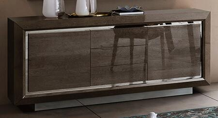 """Elite_ELITEBUFFET_74""""_Buffet_with_3_Doors__Silver_Base_and_Lacquer_Finish_in"""